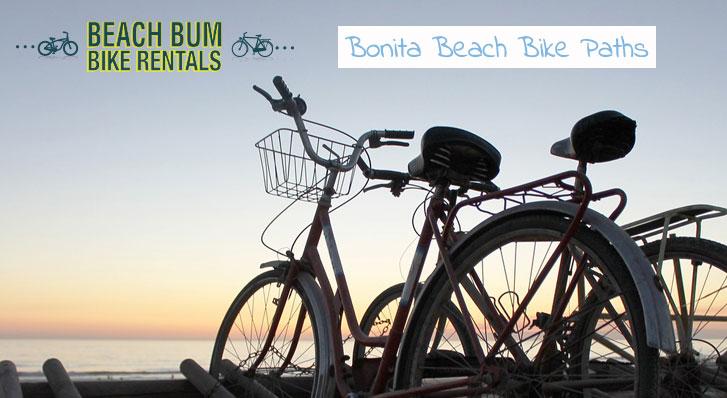 Bikes on Beach at Sunset Bike Paths Bonita Springs Blog Image Beach Bum Bike Rentals Bonita Springs Florida