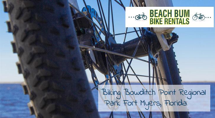 Close up on a bike tire of a bike at the beach | Beach Bum Bike Rental Blog, Fort Myers, FL
