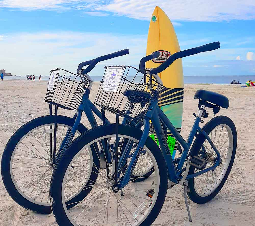 Jamis Taxi Beach Cruiser bikes on Fort Myers Beach, Florida   Bike Rentals Fort Myers Beach Beach Bum Bike Rentals and Delivery