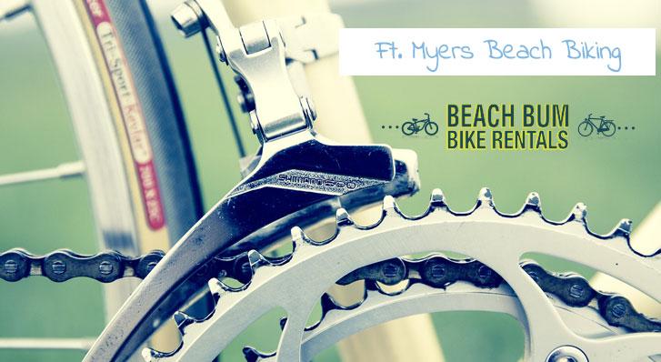 Close up image of bike tire-Fort Myers Beach Biking